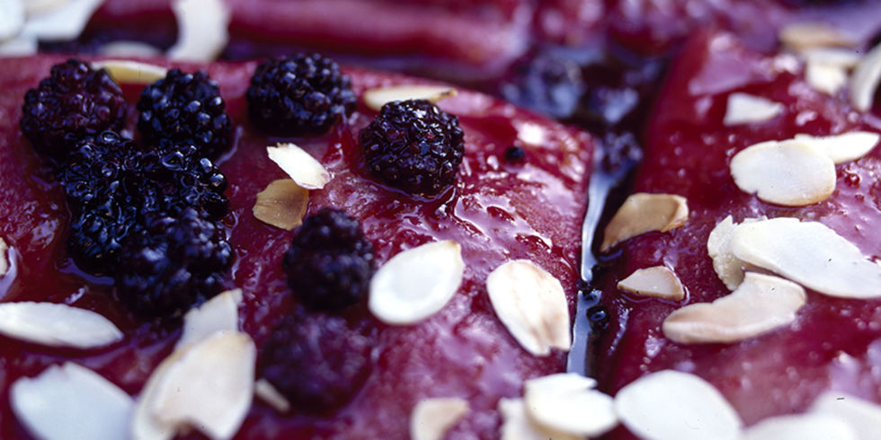 Boozy Blackberry Pancakes with Orange and Almond Recipe