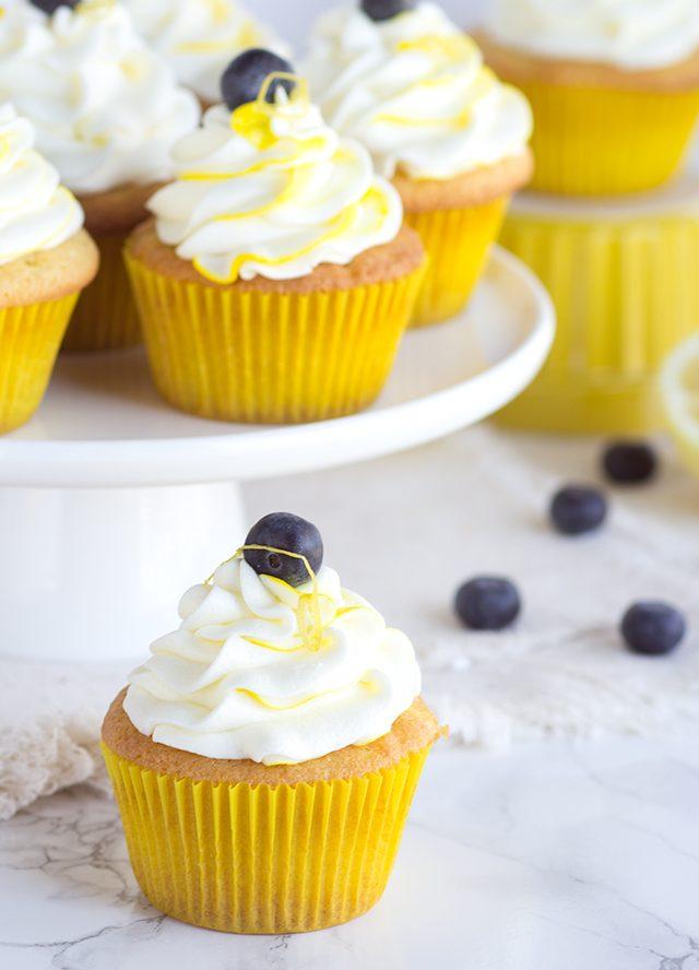 Boozy Blueberry Lemon Cupcake Recipe