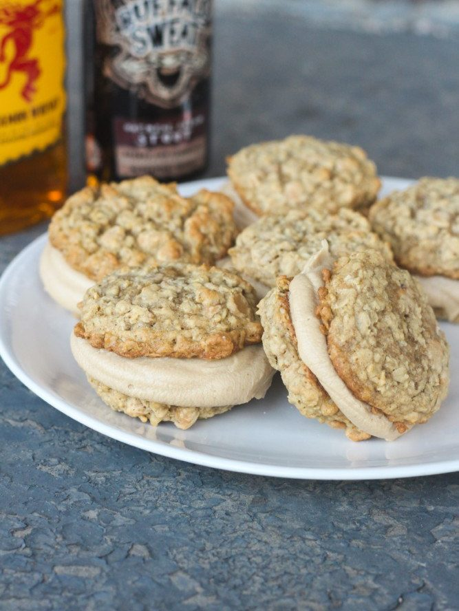 Boozy Peanut Butter Oatmeal Cream Pies Recipe