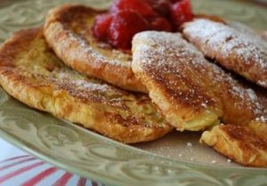 Croissant French Toast with Bourbon Pears Recipe