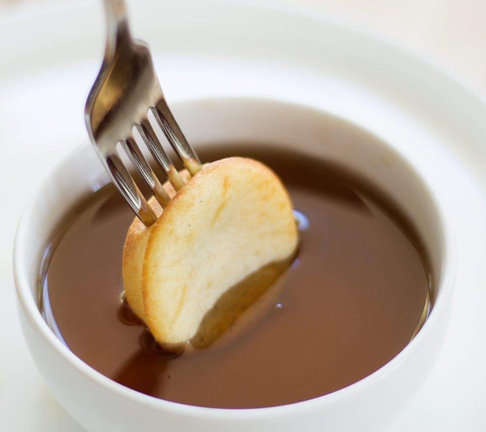 Oven Baked Pancake Bites with Whiskey Caramel Sauce Recipe