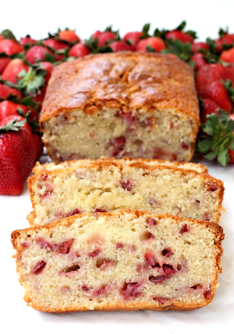 Strawberry Rum Pound Cake Recipe