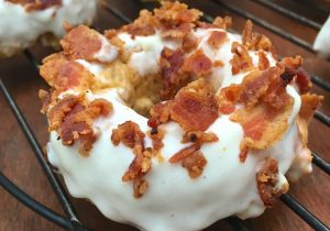 Whiskey Bacon Baked Donuts Recipe