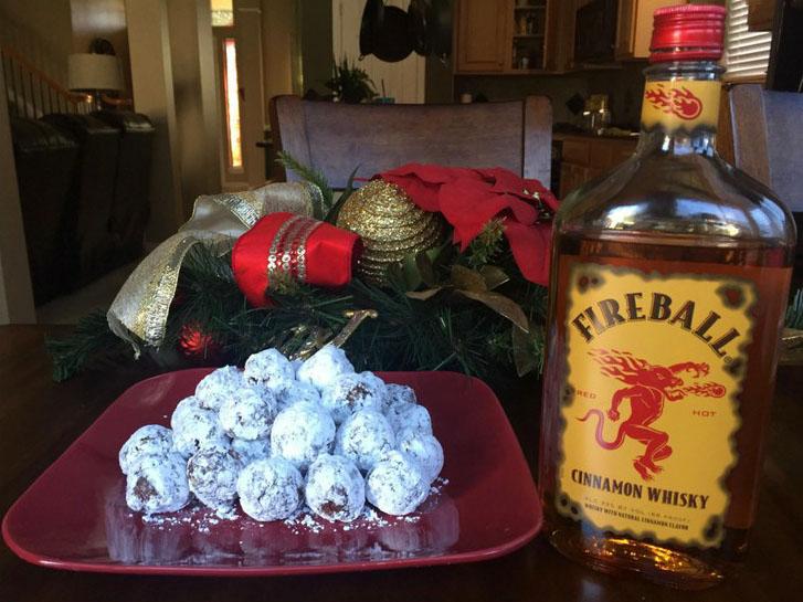 Fireball Balls - No Bake Cookie Recipe