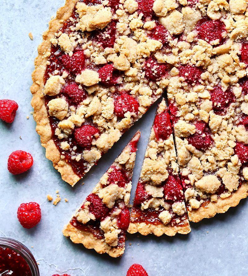 Raspberry Amaretto Cookie Bars Recipe