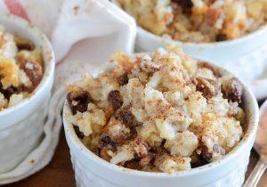 Rum Raisin Baked Rice Pudding Recipe