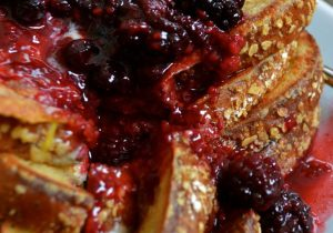 Rumchata French Toast with Warm Berry Compote Recipe