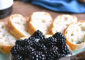 Baked Brie with Wine Soaked Blackberries Recipe