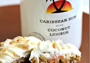 Coconut Rum Carrot Cake Cupcakes Recipe