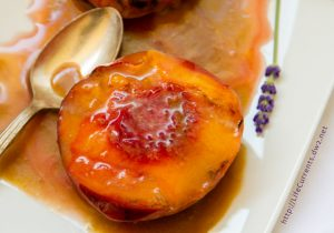 Grilled Peaches with Cointreau Caramel Sauce Recipe