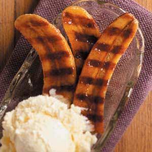 Honey Rum Grilled Bananas Recipe
