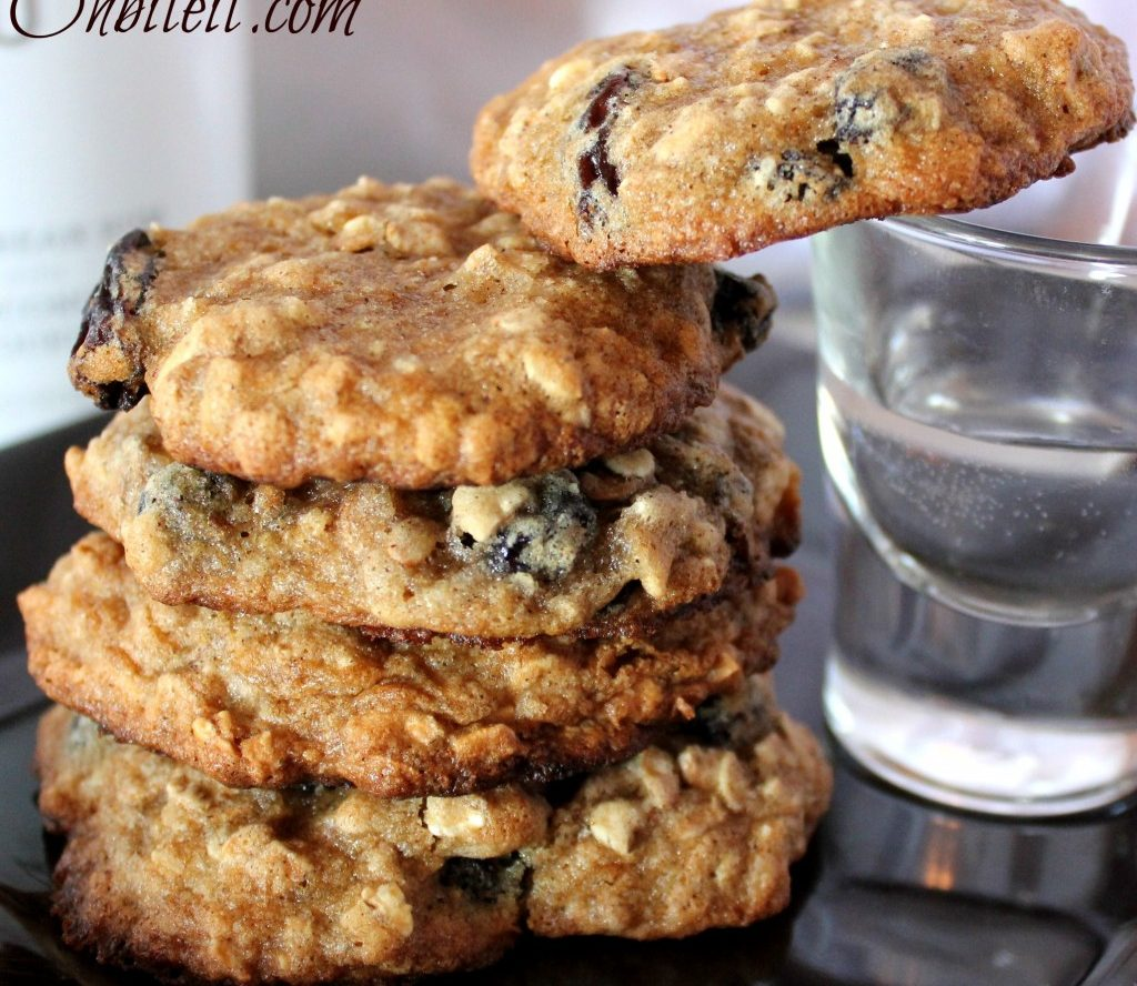 Malibu Rum Raisin Oatmeal Cookies Recipe