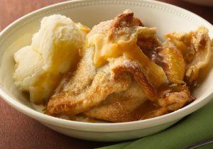 Peach Dumpling with Fuzzy Navel Sauce Recipe