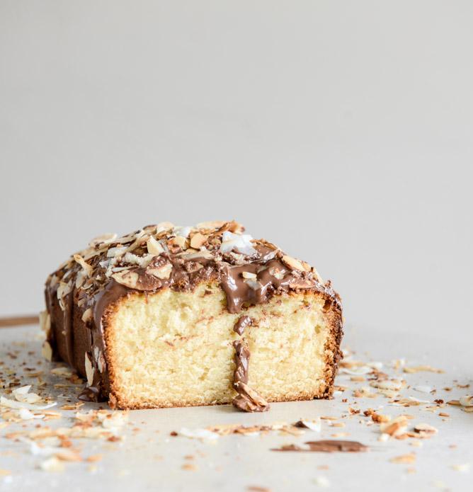 Spiked Almond Joy Poundcake Recipe