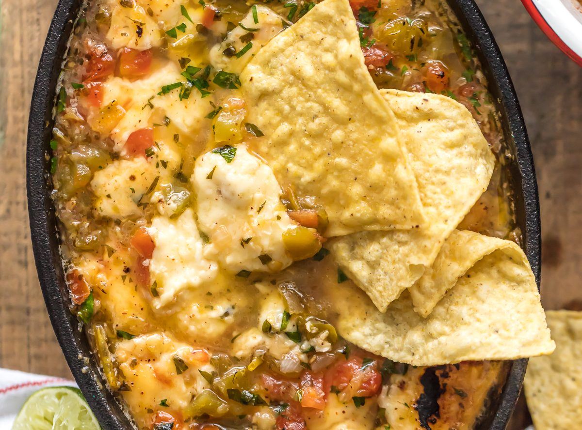 Tequila Lime Flaming Queso Recipe