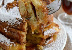 French Toast with Warm Bourbon Vanilla Syrup Recipe