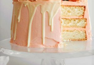 Pink Champagne White Chocolate and Rose Layer Cake Recipe