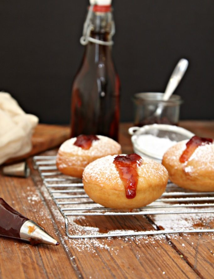 Bourbon Cherry Filled Donuts Recipe