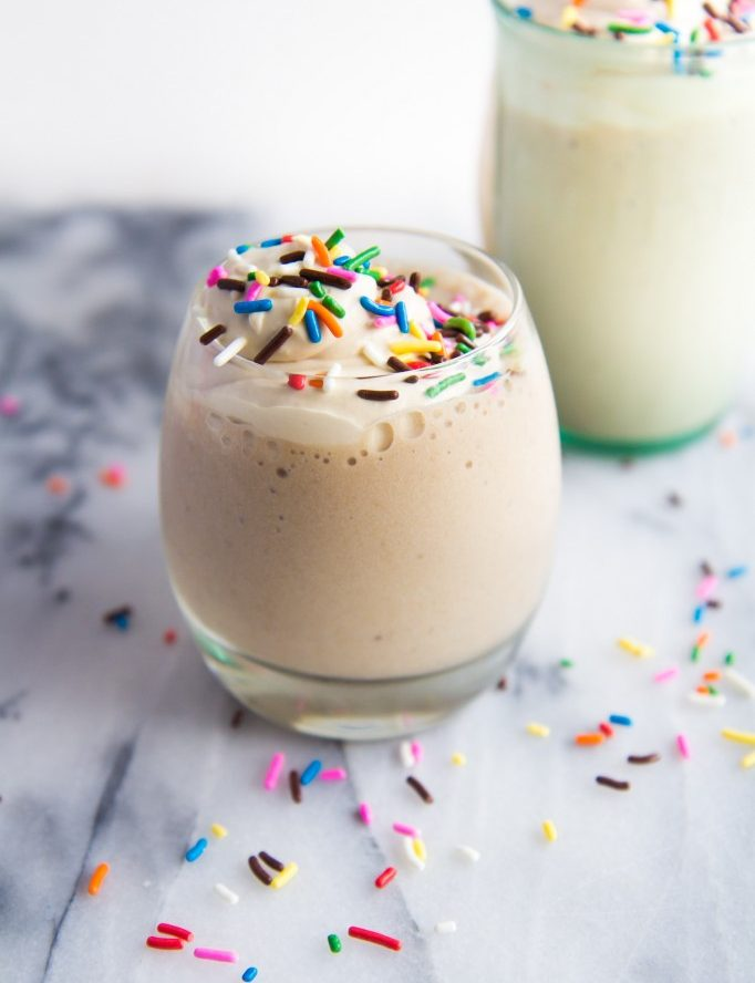 Coconut Frappuccino with Amaretto Whipped Cream Recipe