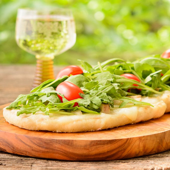 Grilled Wine and Cheese Pizza Recipe