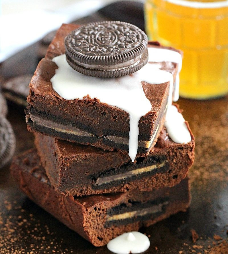 Reeses Oreo Chocolate Beer Bars Recipe