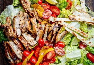 Grilled Tequila Lime Chicken Taco Salad Recipe