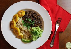 Boozy Black Beans and Rice Bowl Recipe