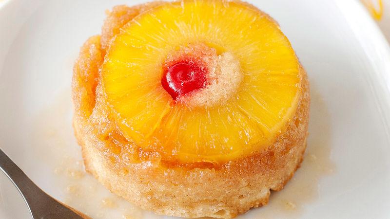 Boozy Mini Pineapple Upside Down Cake Recipe