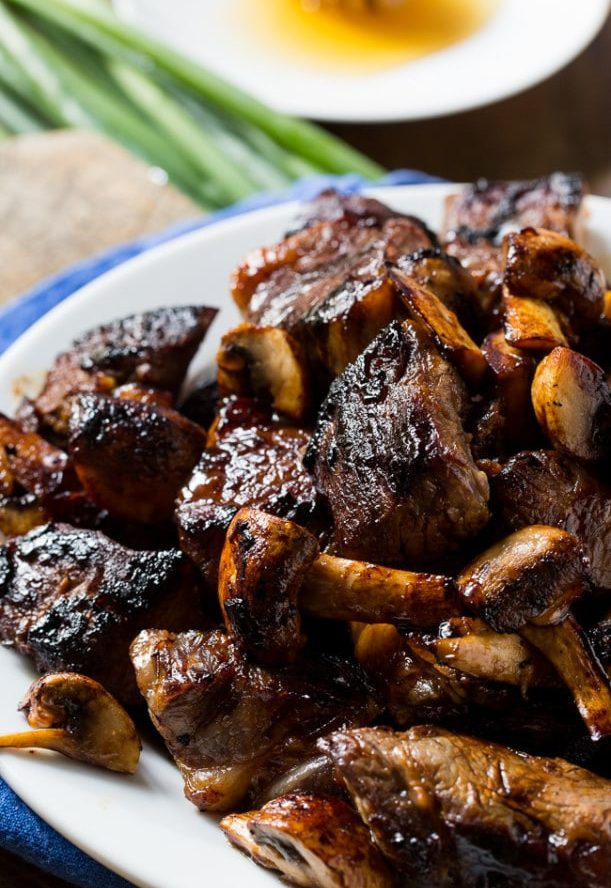 Bourbon Honey Steak Tips Recipe