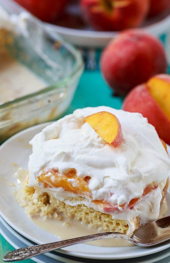 Bourbon Peach Tres Leches Cake Recipe