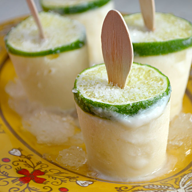 Creamy Margarita Popsicles Recipe