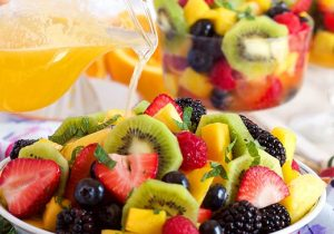 Fruit Salad with Champagne Mimosa Dressing Recipe