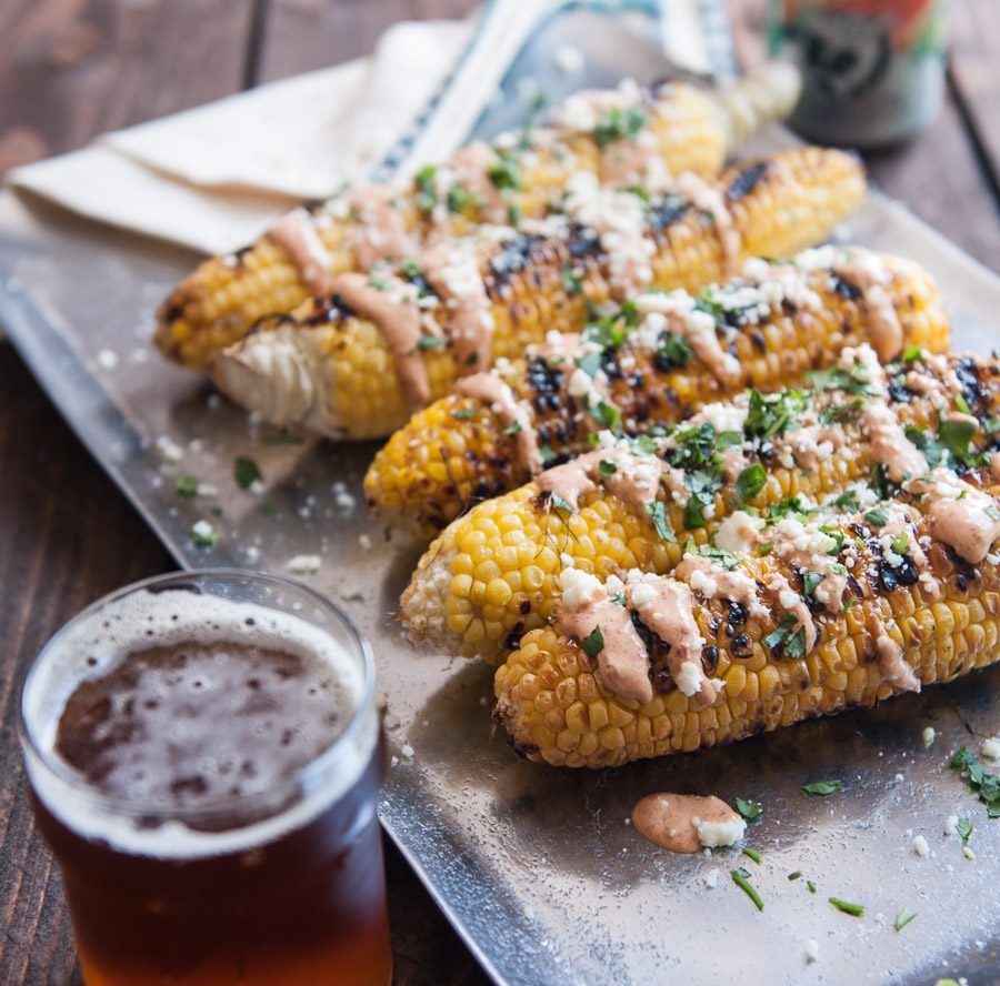 Grilled Corn with IPA Chipotle Sauce Recipe