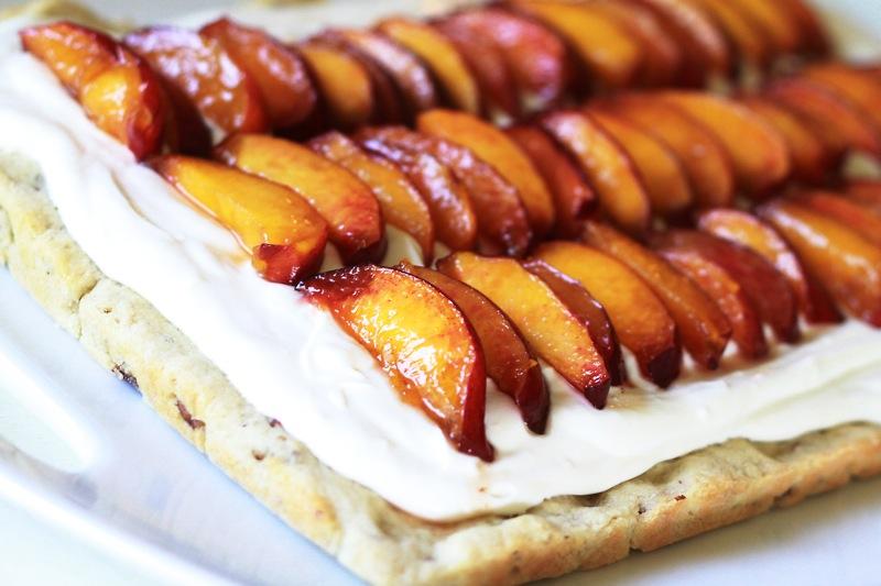 No-Bake Peach Mimosa Cheesecake Bars Recipe