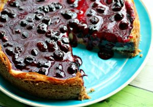 Boozy Blueberry Cheesecake Recipe