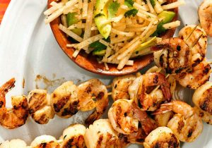 Grilled Drunken Shrimp and Scallop Skewers Recipe