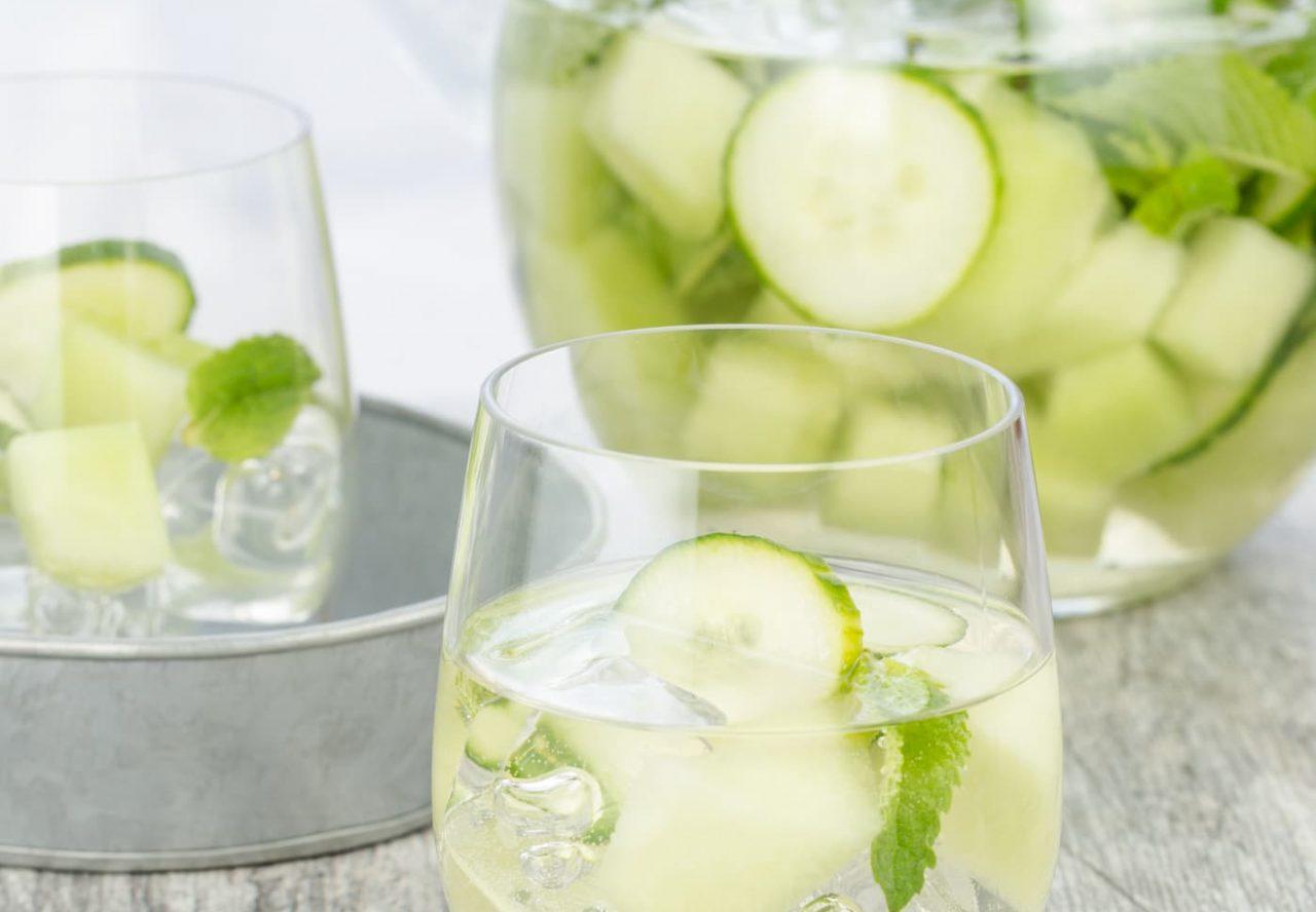 Cucumber Melon Sangria