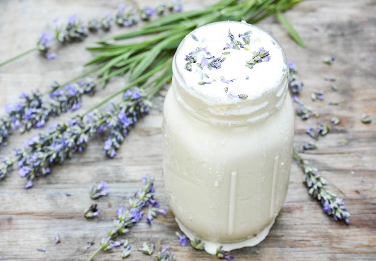 Lavender and White Chocolate Boozy Milkshake