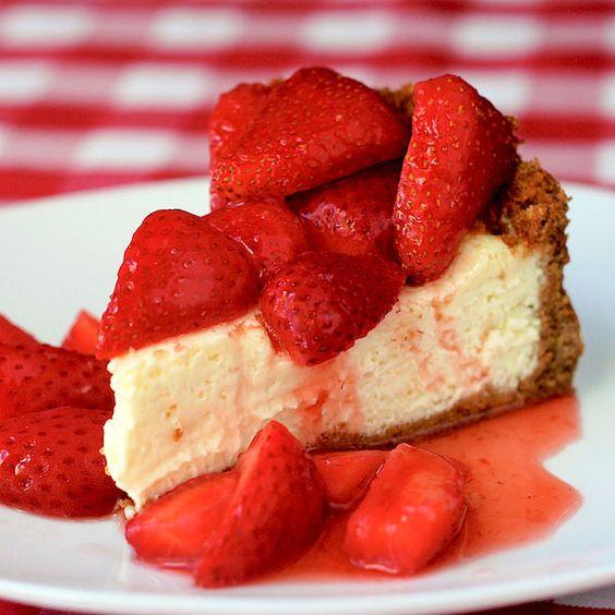 Strawberry Cointreau Sour Cream Custard Flan