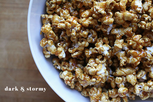 Dark and Stormy Caramel Corn
