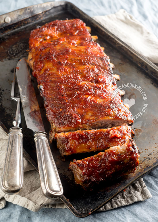 Smoky Ribs with Spicy Rum BBQ Sauce Recipe