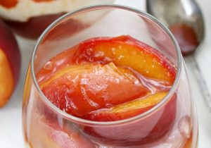 Brandied Peaches and Ricotta Cheese Parfait