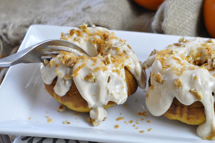 Pumpkin Spice Rum Cakes