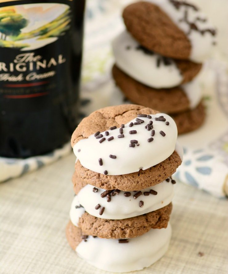 Baileys Chocolate Dipped Cookies