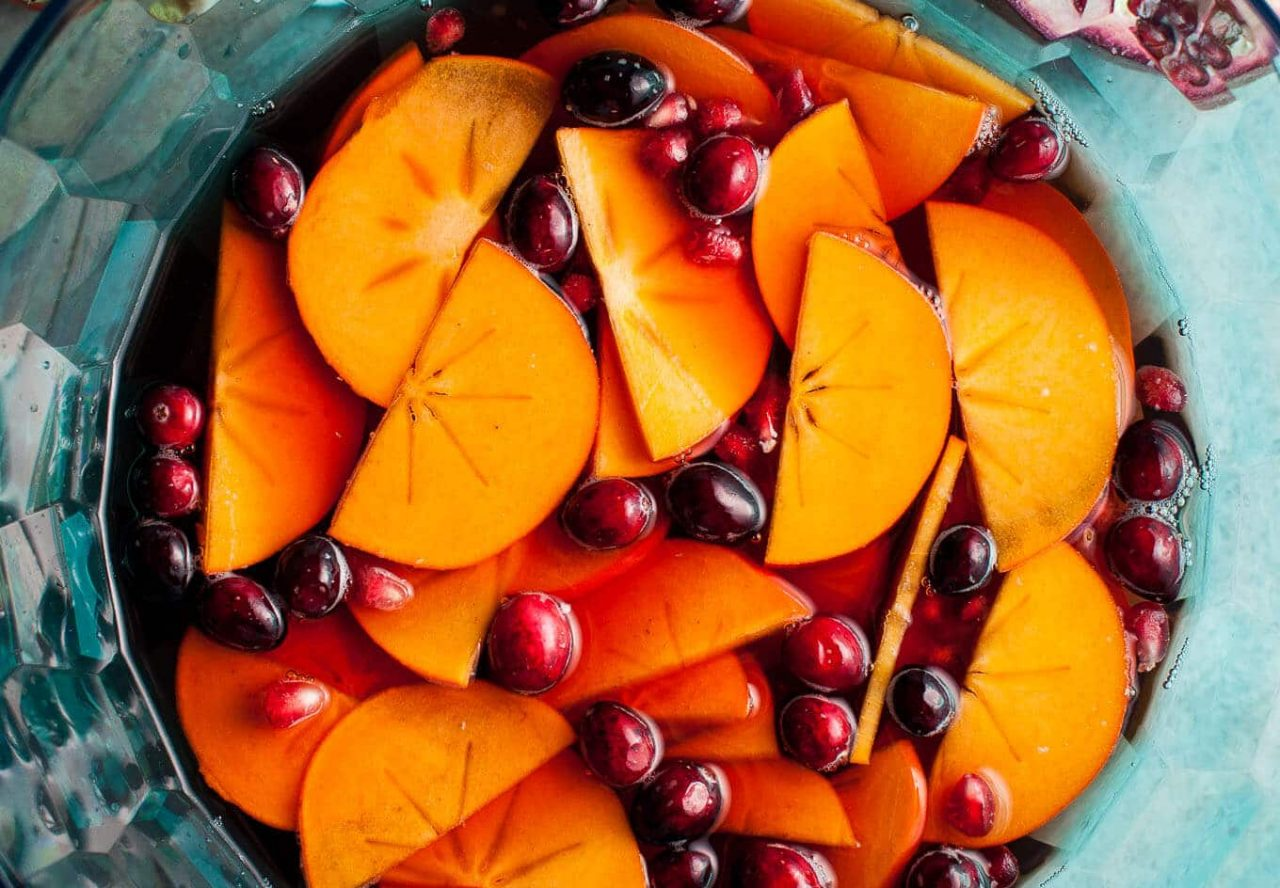 Pomegranate & Persimmon Winter Sangria