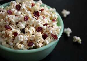 Buttered Rum and Cranberry Popcorn