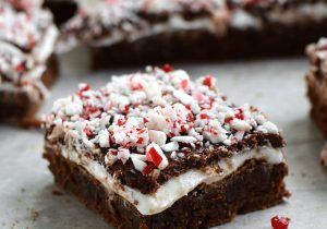 Peppermint Boozy Brownies