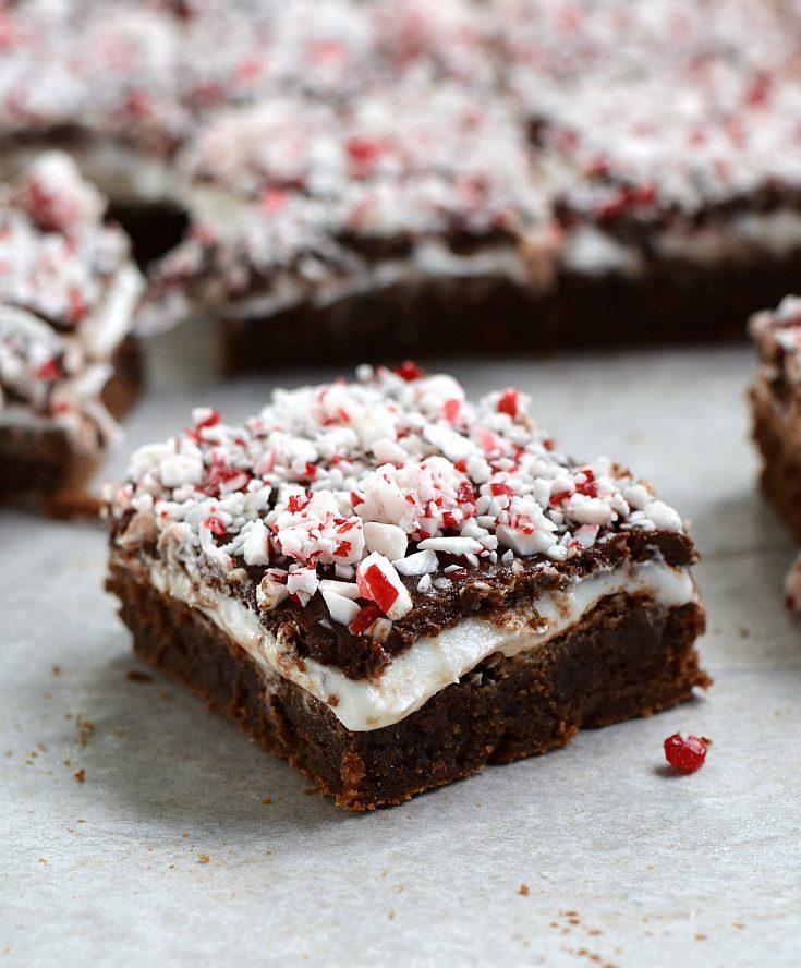 Peppermint Boozy Brownies